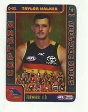 2018 afl TEAMCOACH CAPTAIN ADELAIDE CROWS TAYLOR WALKER C02 CARD