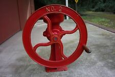 ANTIQUE MERCANTILE CAST IRON COFFEE GRINDER/MILL  #2---RED---EXCELLENT CONDITION