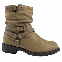 Women's Combat Military Low Heels Booties Platform Ankle Boots Fashion Size 5-10