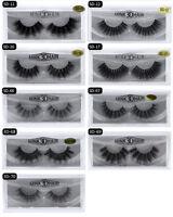 Pair 3D Mink False Eyelashes Wispy Cross Long Thick Soft Fake Eye Lashes UK
