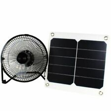 Solar Panel Fan 10W Portable Ventilator for Greenhouse Roof Tree House Camping