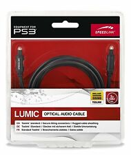SPEEDLINK LUMIC Optisches Audio Toslink 5.1 Kabel 2m PS3 PS2 Blu-ray D12-144055