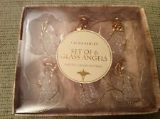 BNWT New Laura Ashley Set of 6 Glass Angels Christmas Tree Decorations
