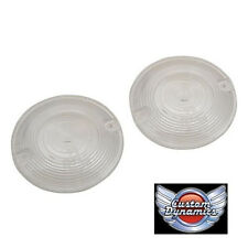 Harley Davidson  PAIR of Clear Turn Signal Clear Lenses - Flat Style ( x2)  new!