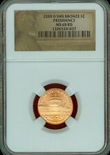 2009-D SMS BRONZE PRESIDENCY Lincoln Cent Graded MS68 RD by NGC