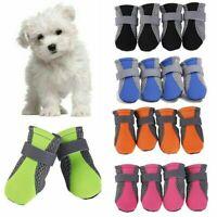 4Pcs Dog Shoes Socks Rain Boots Pet Paw Booties Protective Anti Slip Waterproof