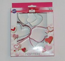 NEW Wilton Heart Shaped Cookie Cutters Set Valentines Day Hearts Baking 7 Piece