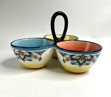 Snack Dish Porcelain Ceramic Serving Tray Dip Bowl Appetizer Condiment Nibbles