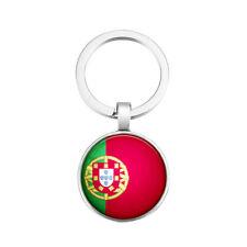 Schlüsselanhänger Schlüssel Anhänger Portugal Portugiesisch  Rund Metall Flagge