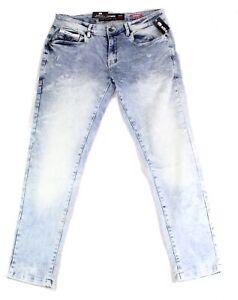 Ecko Unltd. Mens Jeans Blue Size 32X29 Skinny Tapered Leg Denim Stretch $79 #587