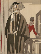 Gazette Du Bon Ton BENITO L'HEURE DU THE Jeanne Lanvin Fashion POCHOIR Art Deco
