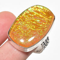 Redefined Triplet Fire Opal Gemstone 925 Sterling Silver Jewelry Ring Size 7 SD