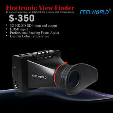 "Feelworld 3.5"" Electronic View Finder LCD Monitor Vision SDI HDMI F BMCC BMPCC"