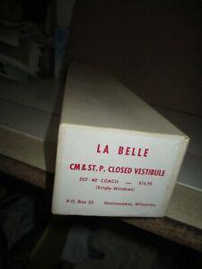 O Scale  La Belle CM & ST.P Closed Vestibule 057-60' Coach (Single Windows) Kit