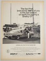 1967 Print Ad Shelby GT 350 & 500 Cars Ford Powered