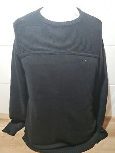 OXBOW men's Knitted Cable Sweater Black M