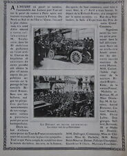 PUBLICITÉ DE PRESSE 1904 TOUR LE FRANCE EN AUTOMOBILE RICHARD BRASIER
