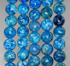10MM BLUE TURQUOISE JASPER GEMSTONE MILKY BLUE ROUND 10MM LOOSE BEADS 16""
