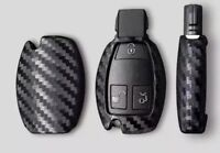 Mercedes Benz Carbon Fiber Protective Key Cover Shell Fold Holder Case Remote