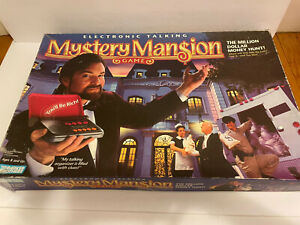 MYSTERY MANSION Electronic Talking Game 1995 Parker Brothers Complete Vintage