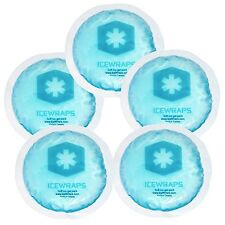 IceWraps Round Blue Gel Ice Packs with Cloth Backing - Set of 5 Multipurpose ...