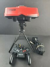Nintendo Virtual Boy Red & Black Console Controller AC Adapter Stand TESTED RARE