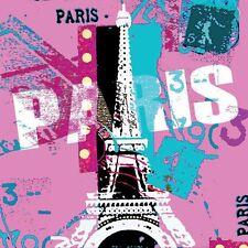 "Napkin/Beverage - ""Mod Paris"" - A Modern Art Flair w/Eiffel Tower  Design"