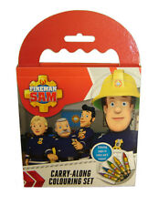 Fireman Sam Carry Along Travel Colour In Colouring Set Crayons Official Licensed