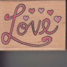 """love Canadian maple  Wood Mounted Rubber Stamp 1 1/2 x 2""""  Free Shipping"""
