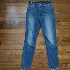 Lucky Brand Jeans Denim Womens 6/28 Bridgette Skinny High Rise Distressed Ankle