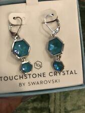 Touchstone Crystal Swarovski Laguna Beach Earrings, BNIB