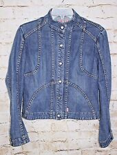 French Connection FCUK Women's Size 10 Snap Front Denim Jean Jacket