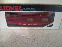 Lionel 6-16306 Santa Fe Barrel Ramp Car w Barrels