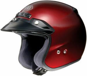 Shoei RJ Platinum R Motorcycle Street Open Face Helmet Wine Red - X-Small XS