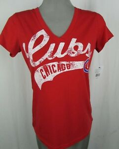 Chicago Cubs G-III 4her by Carl Banks Women's V-Neck T-Shirt MLB Medium  A16