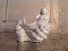 Vintage Mermaid Fish Tank Aquarium Ornament Statue Nude Ceramic Sea Goddess