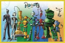 Robots Poster & Plastic Frame Yellow (36x24inches) #I5DO