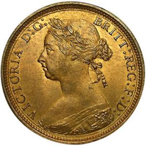 1881 H Great Britain Queen Victoria Halfpenny Bronze Coin