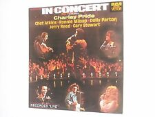 IN CONCERT – CHARLEY PRIDE 2LP Chet Atkins JERRY REED Dolly Parton