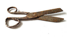 Аncient Medieval Artifact Hand-forged Scissors Original Iron HandCrafted Tool