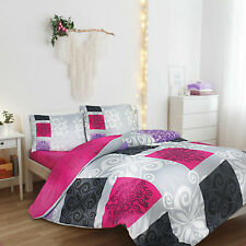 Sueno Queen/King Quilt Cover Set include Fitted Sheet-%100 Luxury Turkish Cotton