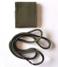 IDF Israel Army Zahal Military ID Dog Tag Cover & Para Cord Chain Olive Green