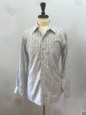 Yves Saint Laurent Men's White Stripe COTTON Dress Shirt 15.5-32/33