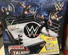 WWE Tough Talkers Interactive Wrestling Ring Interactive Play Set Mattel
