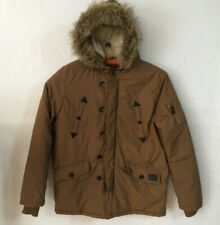 Brave Soul Outdoor Edition Jacket Men Size XL Quilted Faux fur Hoodie Brown G991