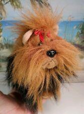 "Yorkie stuffed animal 8"" mini Yorkshire Terrier Dog plush by Aurora"