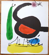 Joan Miro affiche lithographie originale art abstrait abstraction surréalisme