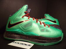 2012 NIKE LEBRON X 10 CUTTING JADE TOURMALINE GREEN BLACK RED FIBERGLASS DS 10.5