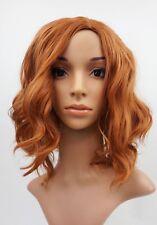 W90 Ladies Wig Auburn/ Dark Ginger Shoulder Length Wig Wavy  Skin Top