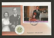1997 THE GAMBIA GOLDEN WEDDING ANNIVERSARY MINIATURE SHEET FDC  SG MS2601